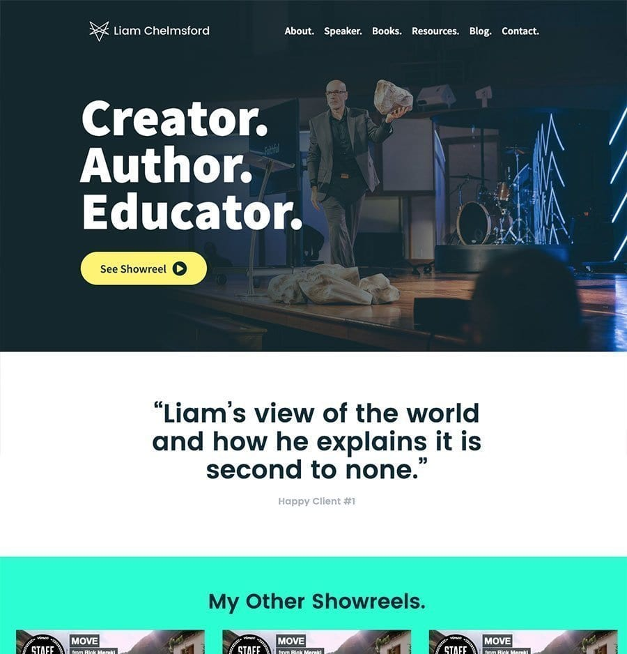 Speaker Website Template