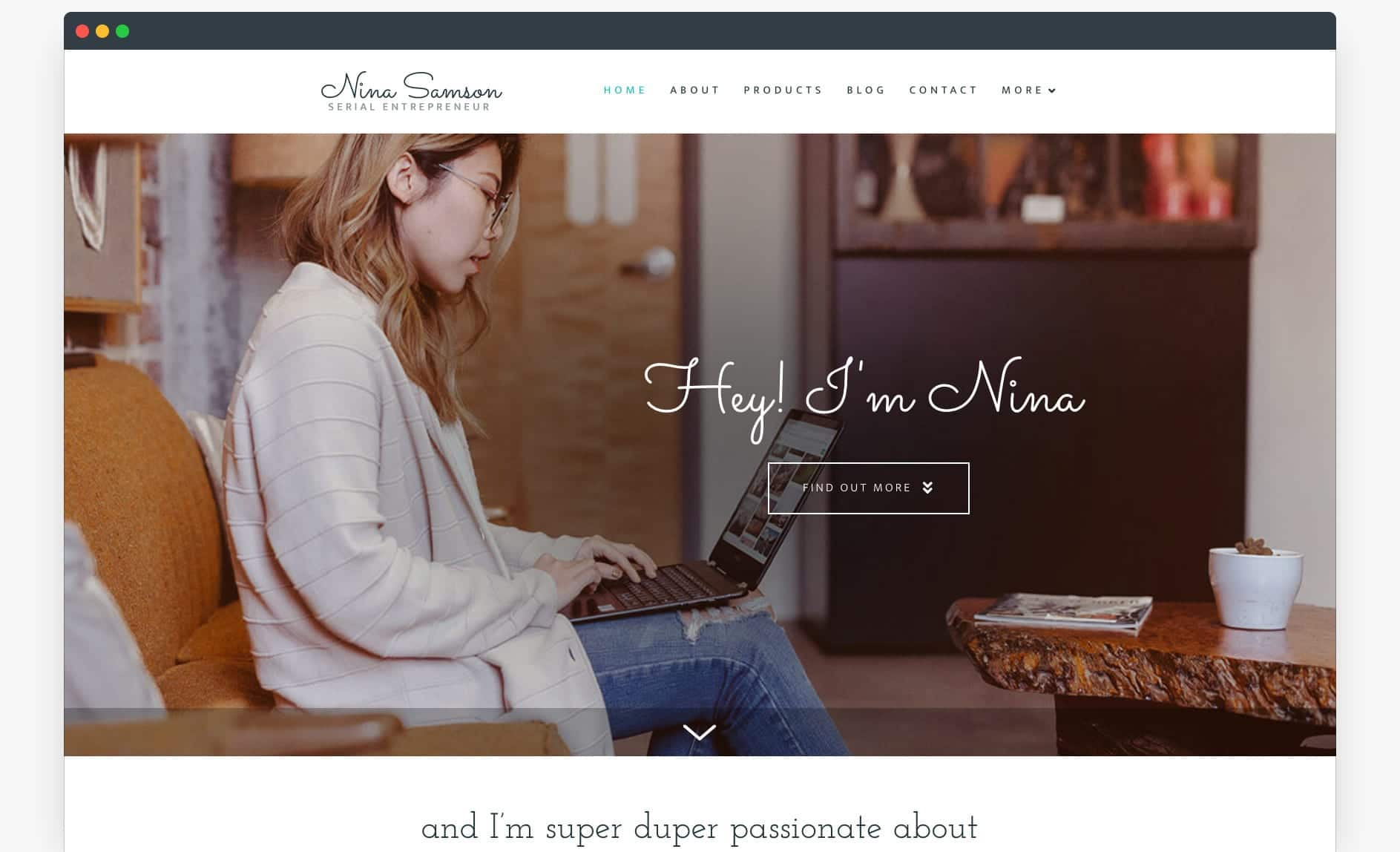 Website Template - The Entrepreneur