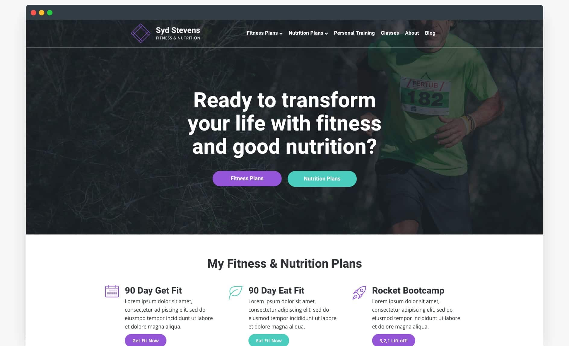 Website Template - Fitness