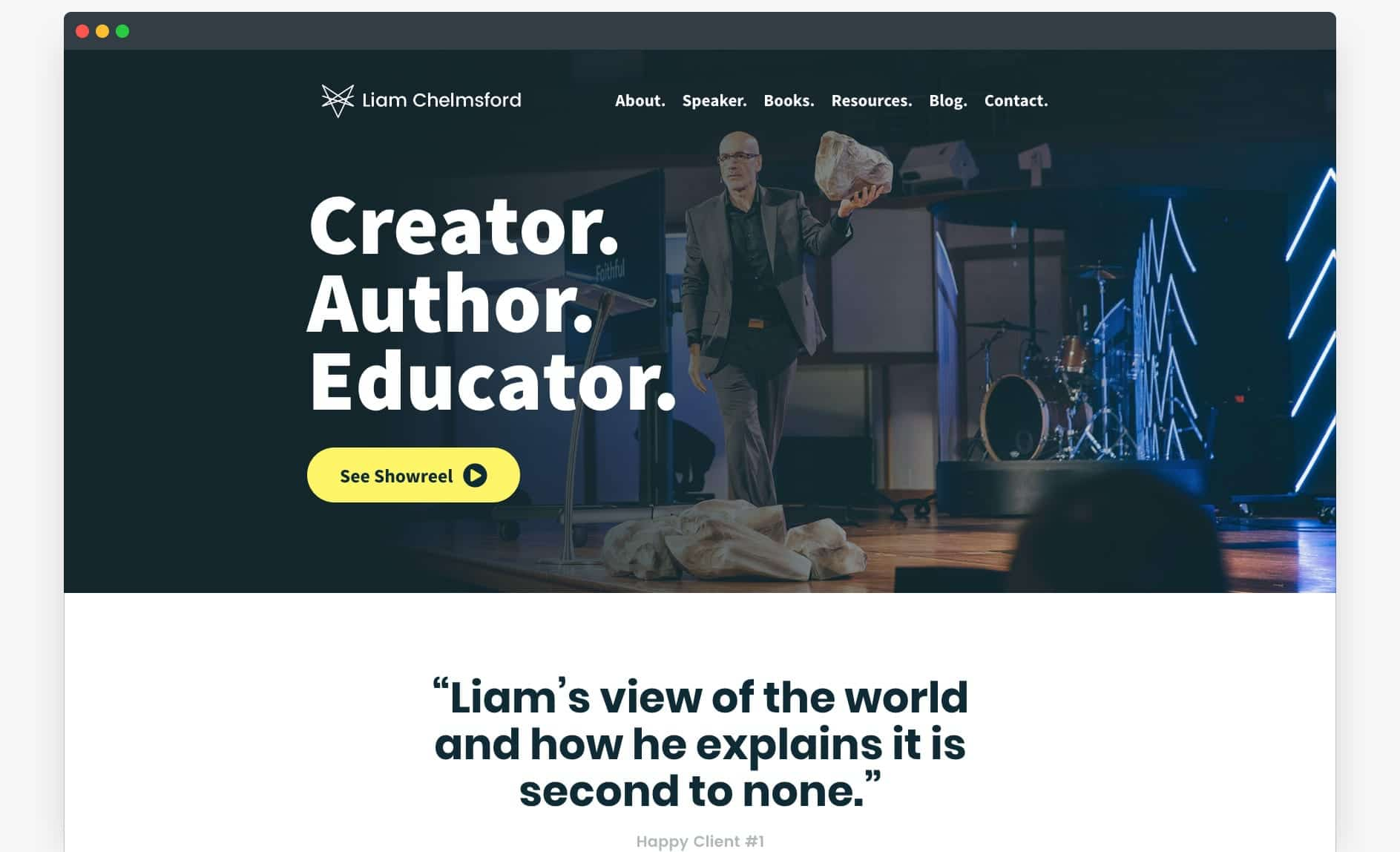 Website Template - The Speaker