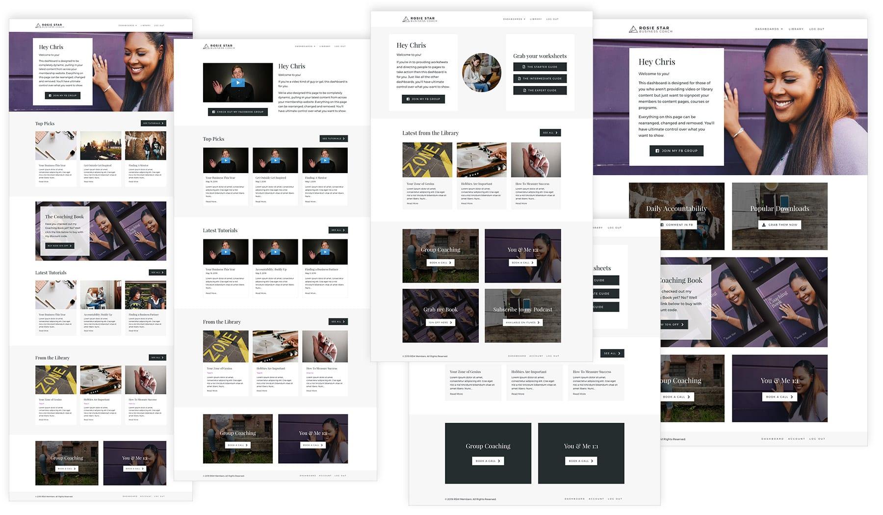 Membership Template - Dashboard Screenshots
