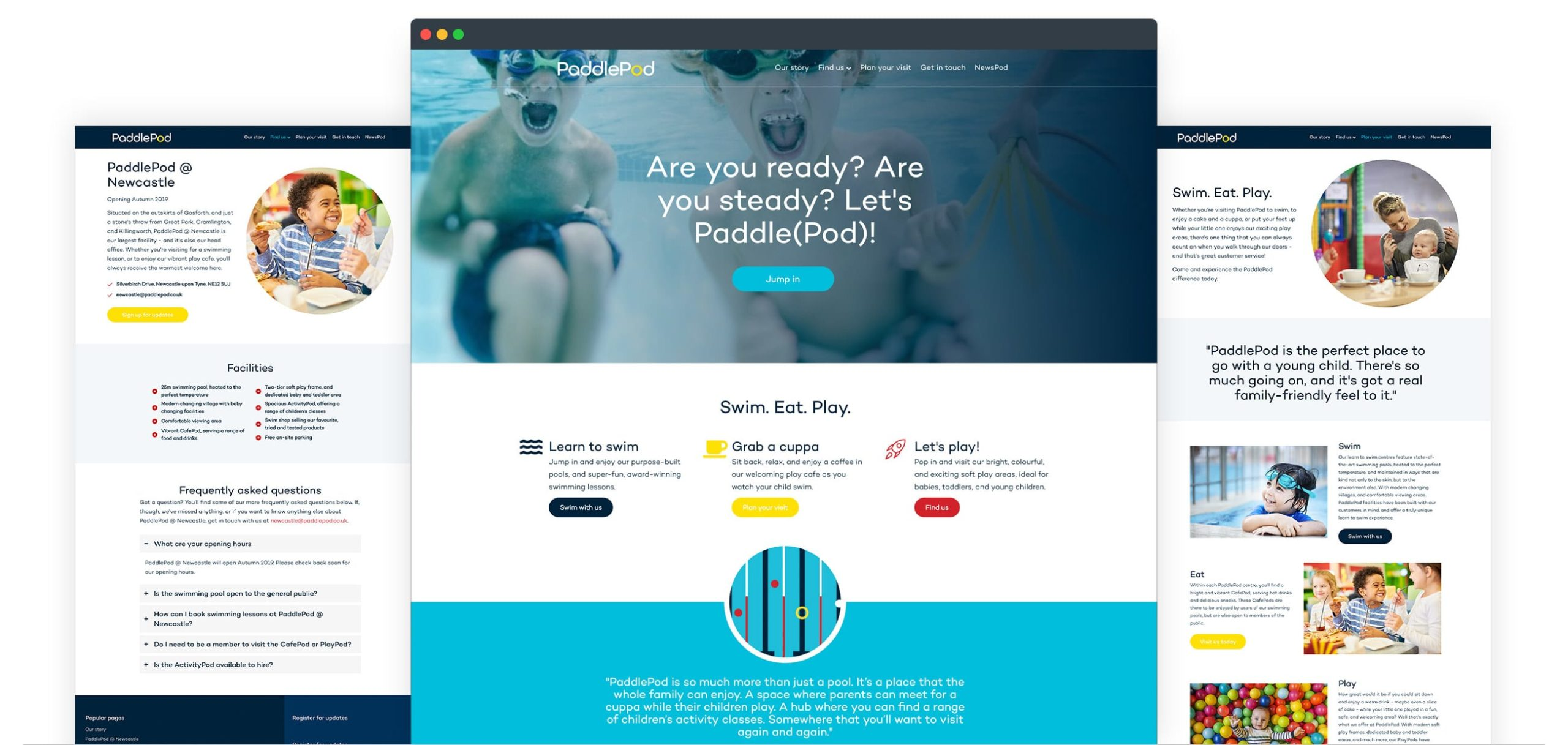 Paddlepod Website Screenshots