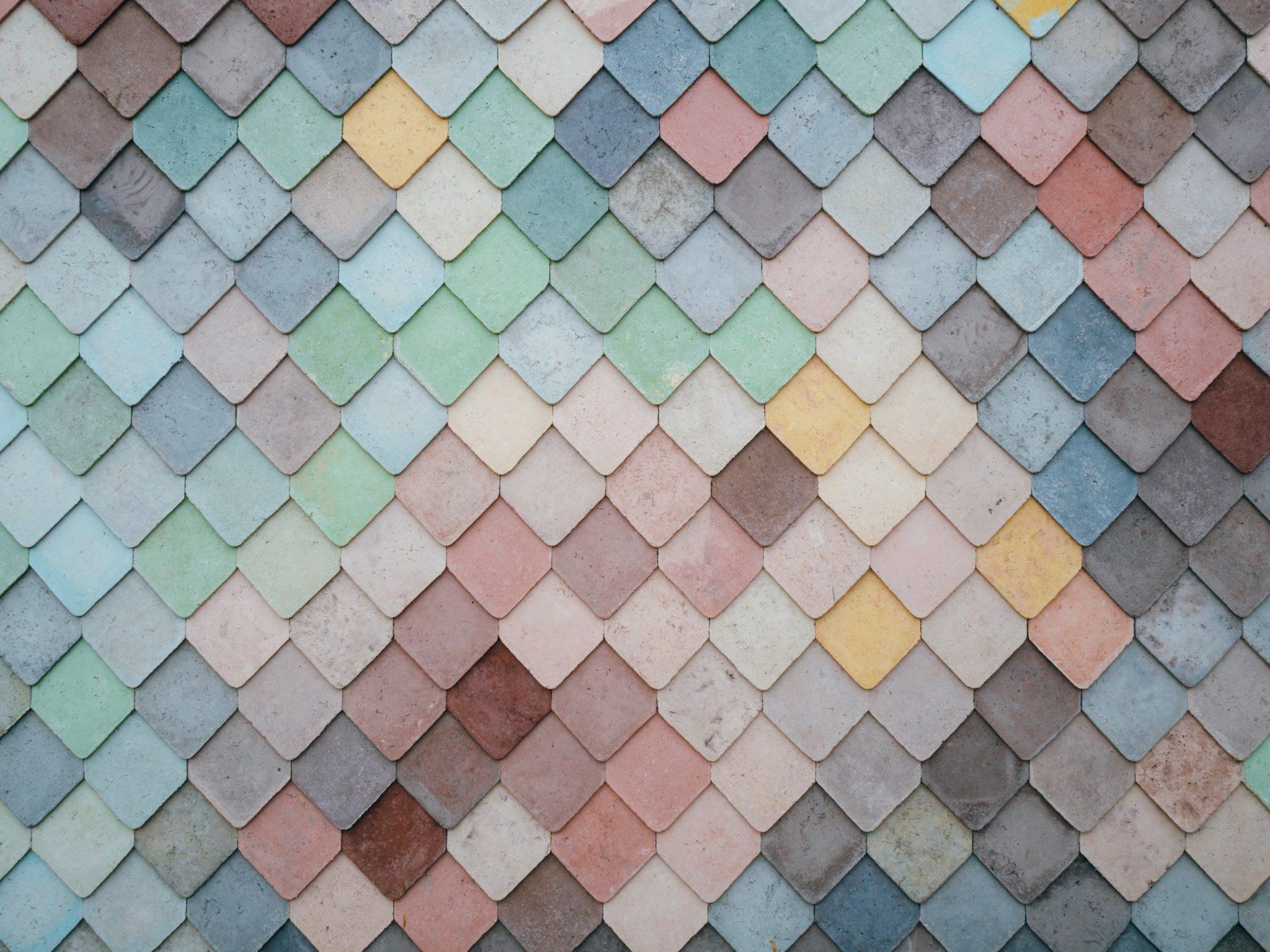 coloured pastel tiles like a brand mood board