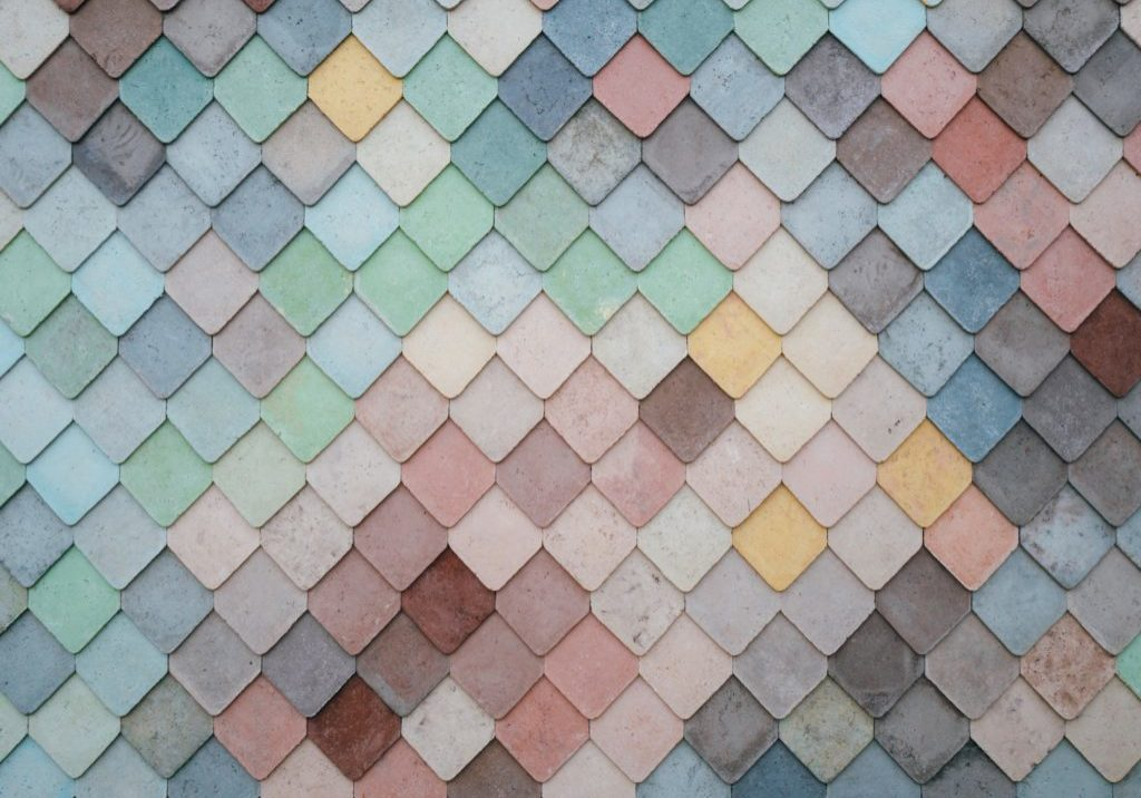 coloured pastel tiles like a brand mood board