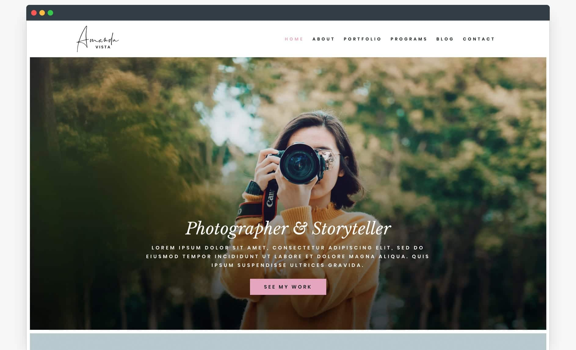Website Template - The Photographer