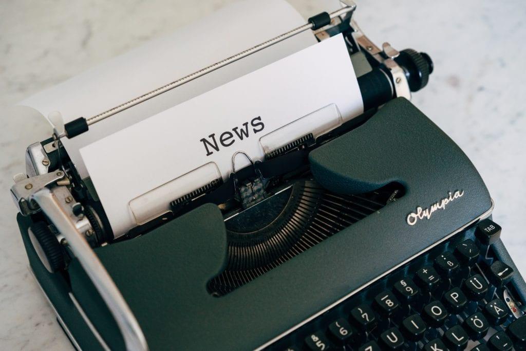 Typewriter printing news